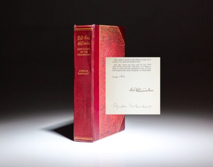 Author's Autograph Edition of Amelia Earhart's 20 Hrs. 40 Min: Our Flight In the Friendship.