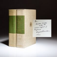 Limited edition of The White House Years: Mandate for Change and Waging Peace by President Dwight D. Eisenhower, both volumes inscribed to his Secretary of Commerce, Sinclair Weeks.
