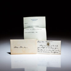 Personal note from President Dwight D. Eisenhower to Mrs. Bryce Harlow, wife of presidential speechwriter and congressional liaison Bryce N. Harlow.