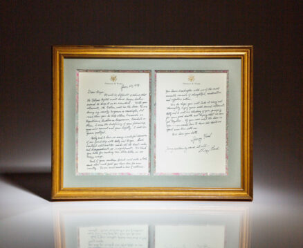 Handwritten letter from former President Gerald R. Ford and Betty Ford to presidential advisor, Bryce N. Harlow, upon his retirement.