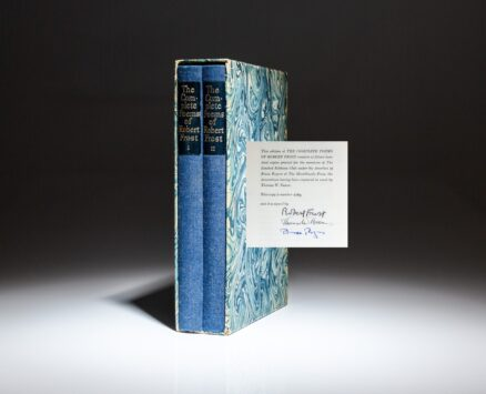 From the Limited Editions Club, The Complete Poems of Robert Frost, signed by the author, illustrator and book designer.