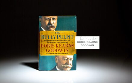 Signed first edition of The Bully Pulpit by Doris Kearns Goodwin.