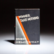First edition of Winner Take Nothing by Ernest Hemingway, in a fine first state dust jacket.