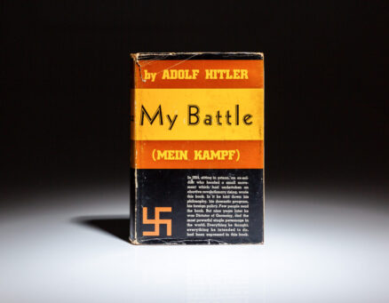 Second American edition of My Battle (Mein Kampf) by Adolf Hitler, in the publisher's exceptionally scarce and controversial dust jacket.