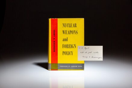 Signed copy of Nuclear Weapons and Foreign Policy by Henry A. Kissinger.
