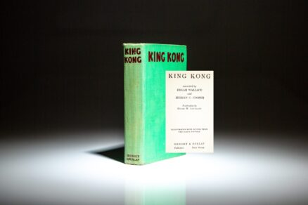 First edition, first issue of King Kong by Delos W. Lovelace, conceived by Edgar Wallace and Merian C. Cooper.