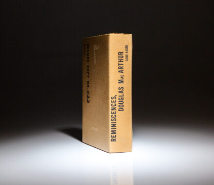 Reminiscences by General Douglas MacArthur, deluxe limited edition, in the publisher's original shipping crate.