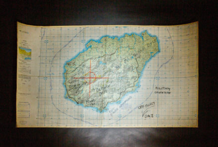 Vietnam War-era map of Hainan Province in southern China.