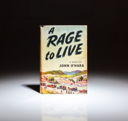 First edition of A Rage to Live by John O'Hara.