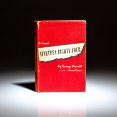First American edition of Nineteen Eighty-Four, a novel by George Orwell.