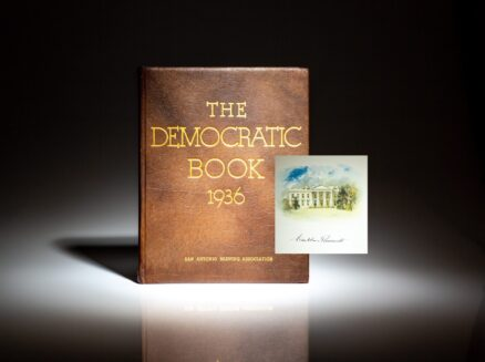 Deluxe limited edition of The Democratic Book 1936, signed by President Franklin Roosevelt.