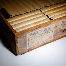 The Works of Theodore Roosevelt, the National Edition, in dust jackets and crate.