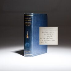 Limited edition of Memoir and Correspondence of Charles Steedman Rear Admiral, United States Navy, with a presentation inscription by the editor, Amos Lawrence Mason, and a laid-in signature of Admiral Steedman.