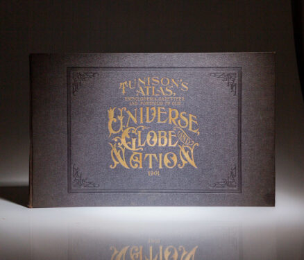 Complete folio atlas by Henry C. Tunison, published in 1901, titled Tunison's Atlas: Encyclopaedia, Gazetteer and Portfolio Of Our Universe, Globe and Nation.