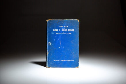 Second Edition of The Madam C.J. Walker Beauty Manual, published in 1940, by the African American entrepreneur and first female self-made millionaire in America, Madam C.J. Walker.