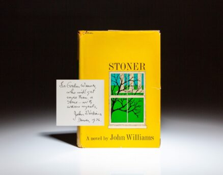 First edition of Stoner by John Williams, inscribed to fellow author, Gordon Weaver.