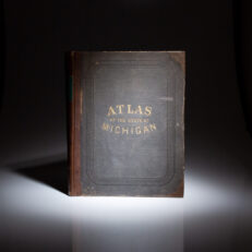 First edition of Atlas of the State of Michigan by H.F. Walling, published in 1873.