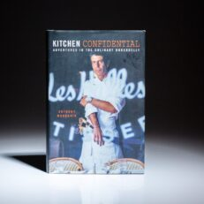 First edition, first printing of Kitchen Confidential: Adventures in the Culinary Underbelly by Anthony Bourdain.