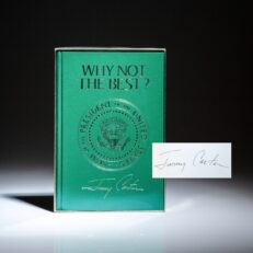 Signed by President Jimmy Carter, deluxe Presidential Edition of Why Not The Best?