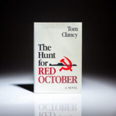 First edition, first printing of The Hunt for Red October by Tom Clancy, in first state dust jacket.