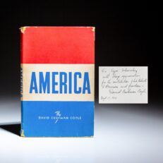 Inscribed to Igor Sikorsky, America, by American economist David Cushman Coyle.