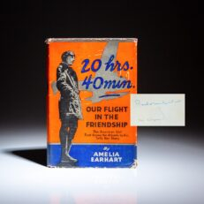 Signed first edition of Amelia Earhart's 20 Hrs. 40 Min.: Our Flight In the Friendship.