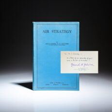 Air Strategy by Imperial Russian General and military historian, Nikolai Golovine, inscribed to Igor Sikorsky.