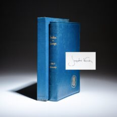 Deluxe inaugural edition of Profiles in Courage by President John F. Kennedy, signed by Jackie Kennedy.
