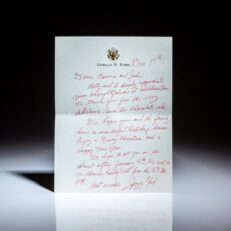 Letter from former President Gerald R. Ford to John Swearingen, CEO of Standard Oil of Indiana, and his wife, Bonnie.