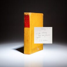 Inscribed to Igor Sikorsky by the president of Chance Vought Corporation, Eugene E. Wilson, The Romance of Leonardo Da Vinci from the Heritage Press.