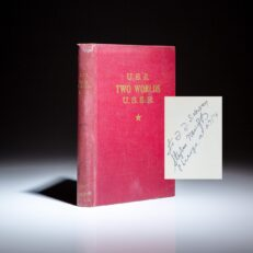 Inscribed to aviation pioneer Igor Sikorsky, Two Worlds: U.S.A. - U.S.S.R. by Stephen Nenoff.