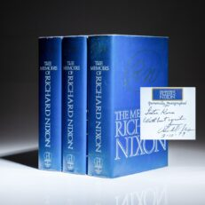 Three signed first editions of The Memoirs of Richard Nixon, inscribed by President Richard Nixon to the family of Ambassador Lester B. Korn.