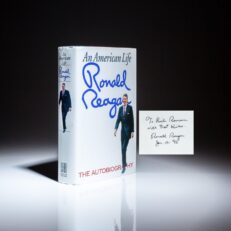 First edition of An American Life, inscribed by President Ronald Reagan.