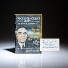 Inscribed to the son of Igor Sikorsky, Nickolai Sikorsky, Seven Came Through: Rickenbacker's Full Story, by Capt. Edward V. Rickenbacker.