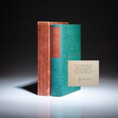 Signed limited edition of East of Eden by John Steinbeck.