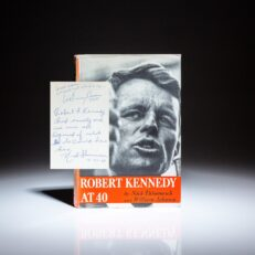 First edition of Robert Kennedy at 40, with inscriptions by the authors, Nick Thimmesch and William Johnson.