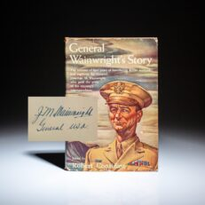 Signed first edition of General Wainwright's Story.