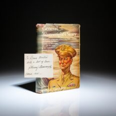 """Signed copy of General Wainwright's Story, inscribed with his nickname, """"Skinny"""" Wainwright."""