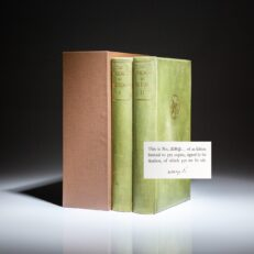 Definitive edition of The Poems of W.B Yeats, signed by the author on the limitation page.